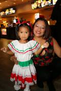 Celia Colon and daughter Maya represent Mexico